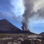 Fogo Vulkanausbrauch am Morgen des 23. Novembers 2014. Foto: Theo Montrond